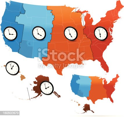 USA Time Zone Map Printable vector for Free | AI, SVG and EPS