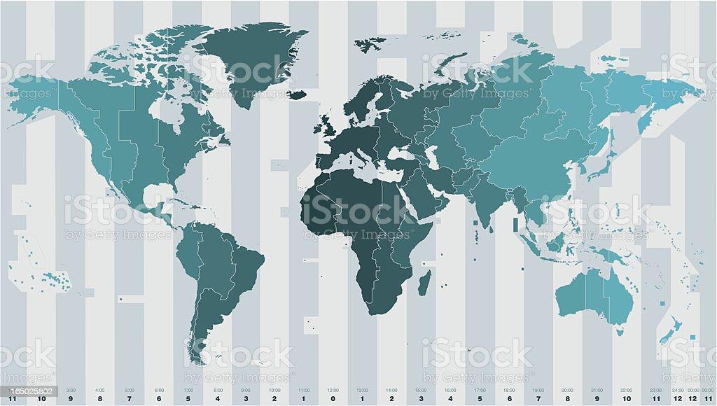 Time zones vector vector art illustration