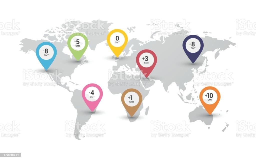 Karta Europa Tidszoner.Tidszoner Karta Vektorgrafik Och Fler Bilder Pa Abstrakt Istock