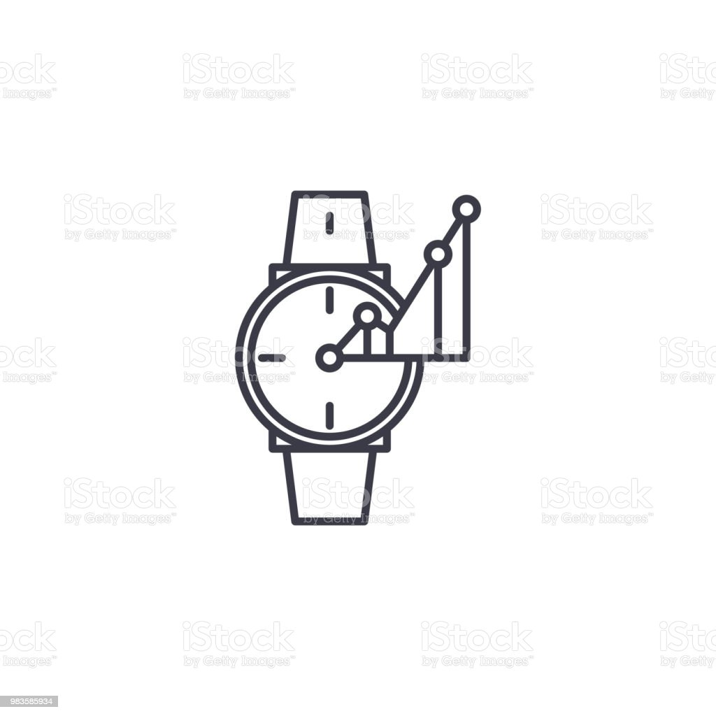 timekeeper linear icon concept timekeeper line vector sign symbol