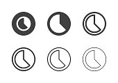 Timelapse Icons Multi Series Vector EPS File.