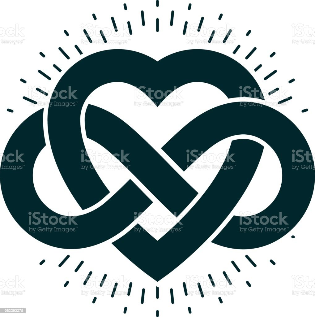 Timeless love concept vector symbol created with infinity loop sign timeless love concept vector symbol created with infinity loop sign and heart royalty buycottarizona Gallery