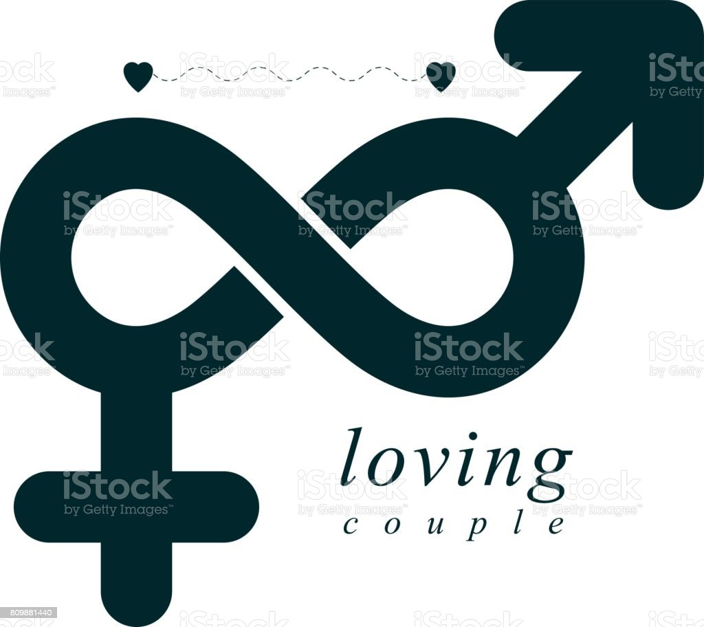 Timeless loving couple concept vector symbol created with infinity timeless loving couple concept vector symbol created with infinity sign and male mars an female buycottarizona