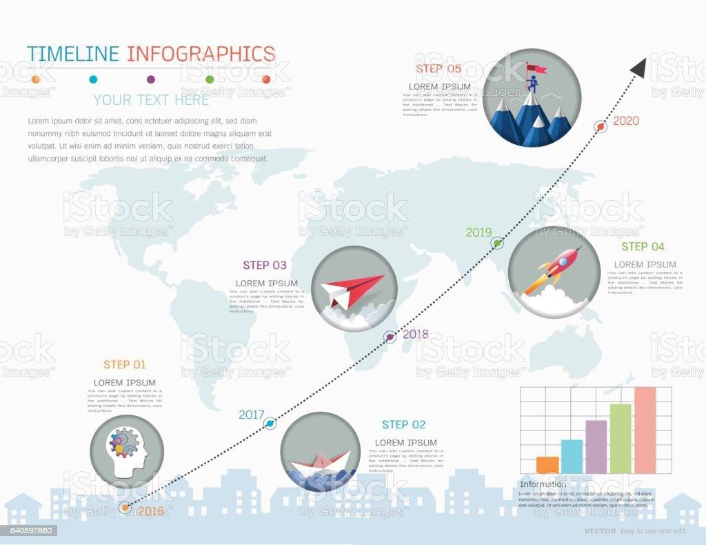 Línea De Tiempo E Hito Infografía Diseño De Plantillas Gráficos ...