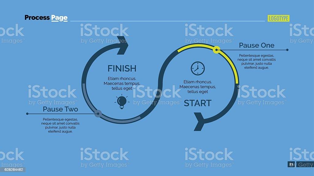 Timeline Arrow Diagram Slide Template vector art illustration