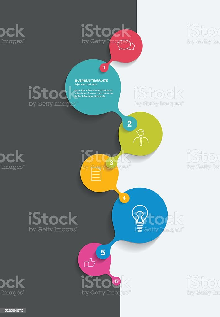 Timeline. Business color vector. Infographic. vector art illustration