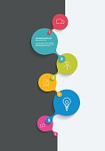Timeline. Business color vector. Infographic.