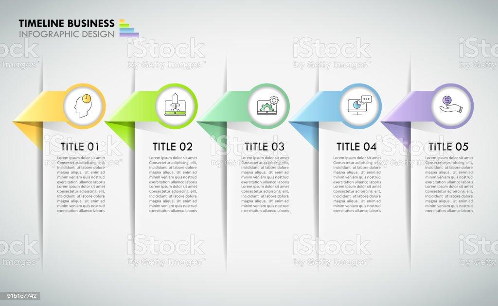 タイムライン ビジネス コンセプト インフォ グラフィック テンプレート