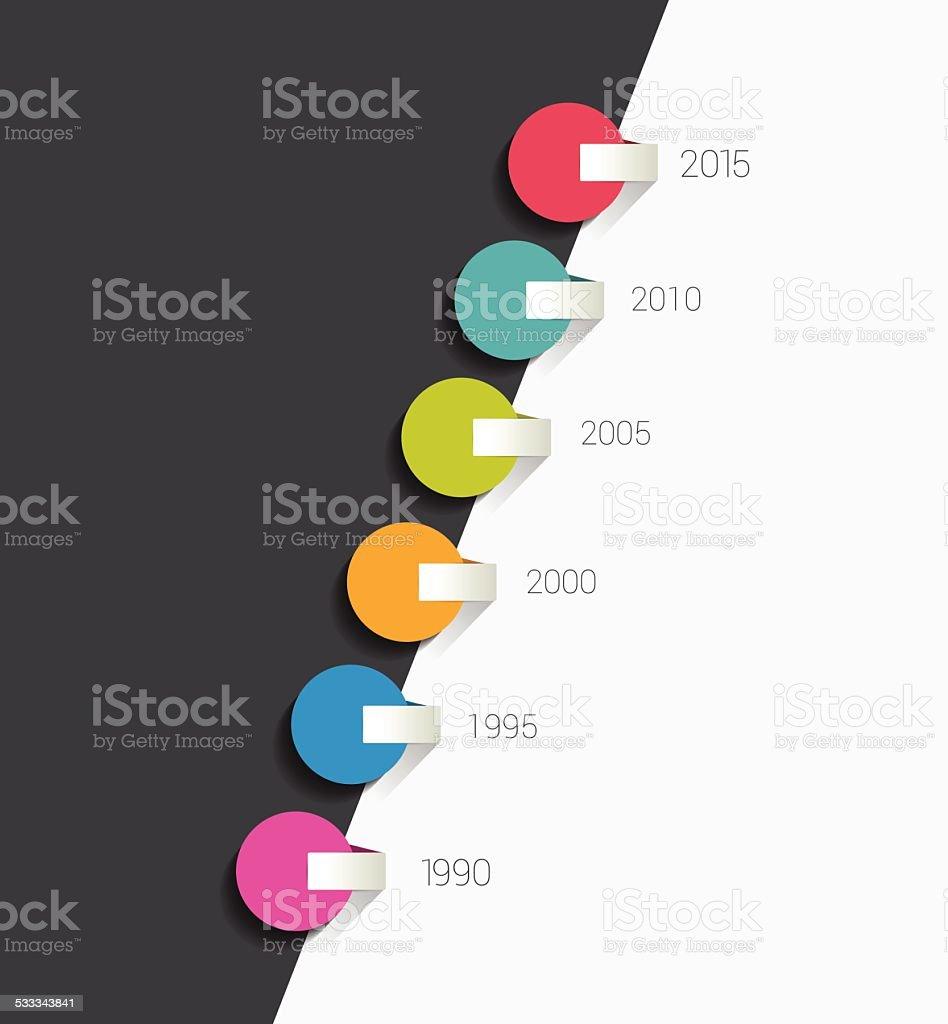 Timeline concept. vector art illustration