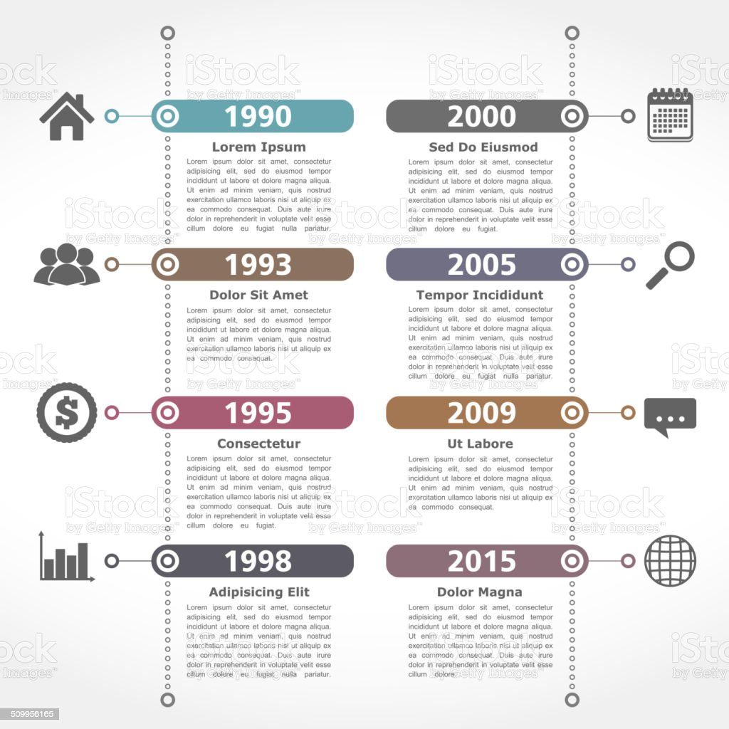Timeline Design Template Stock Vector Art & More Images of ...