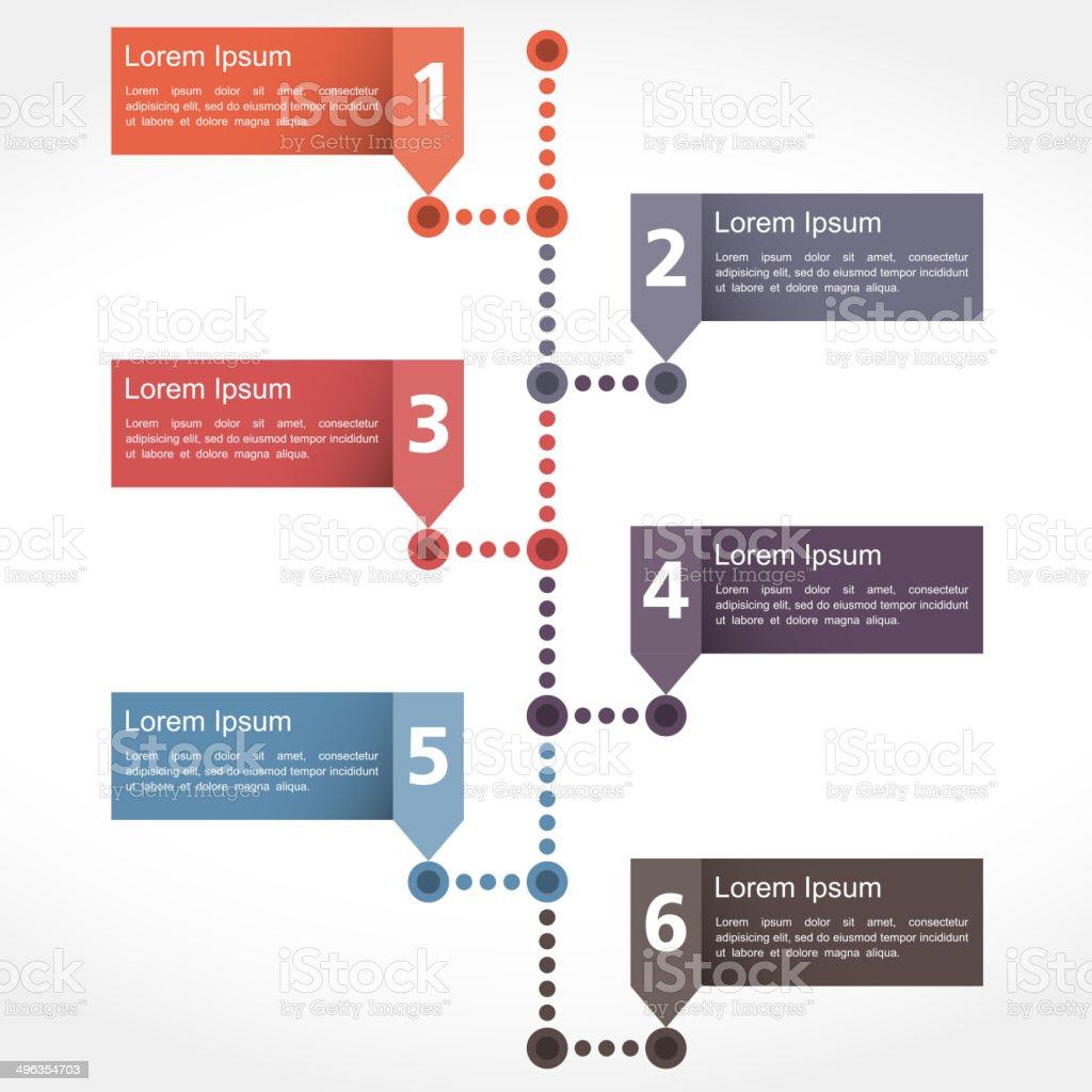 Timeline Design vector art illustration