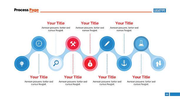 timeline diagram slide template - acute angle stock illustrations