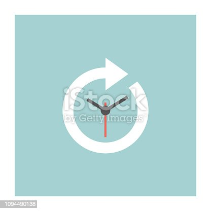 Timeline Icon Flat Design