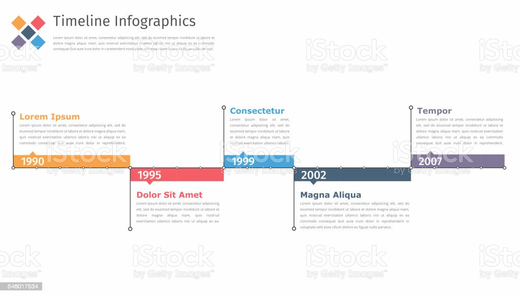 Timeline In vector art illustration