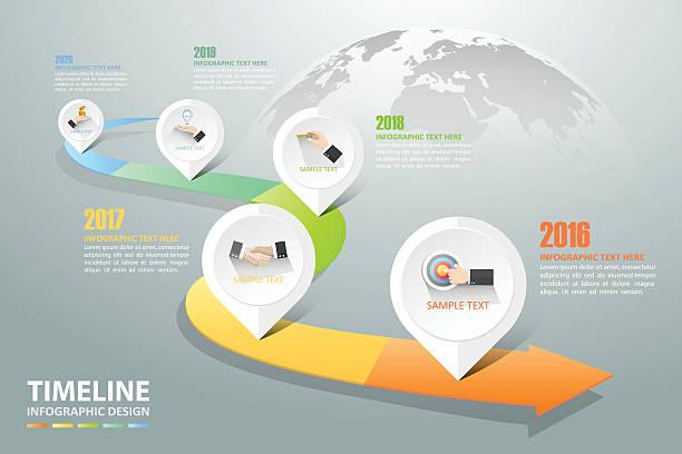 illustrations, cliparts, dessins animés et icônes de timeline infographic 5 options,  business concept infographic - infographie de démographie