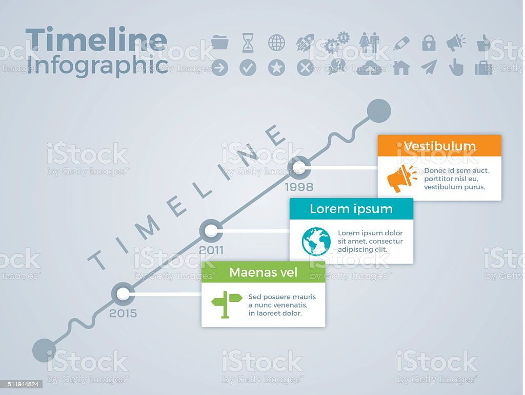 Timeline Infographic Concept Stock Vector Art & More ...