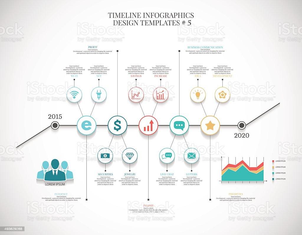 Zeitleiste Infografik Designvorlagen 7 Stock Vektor Art und mehr ...