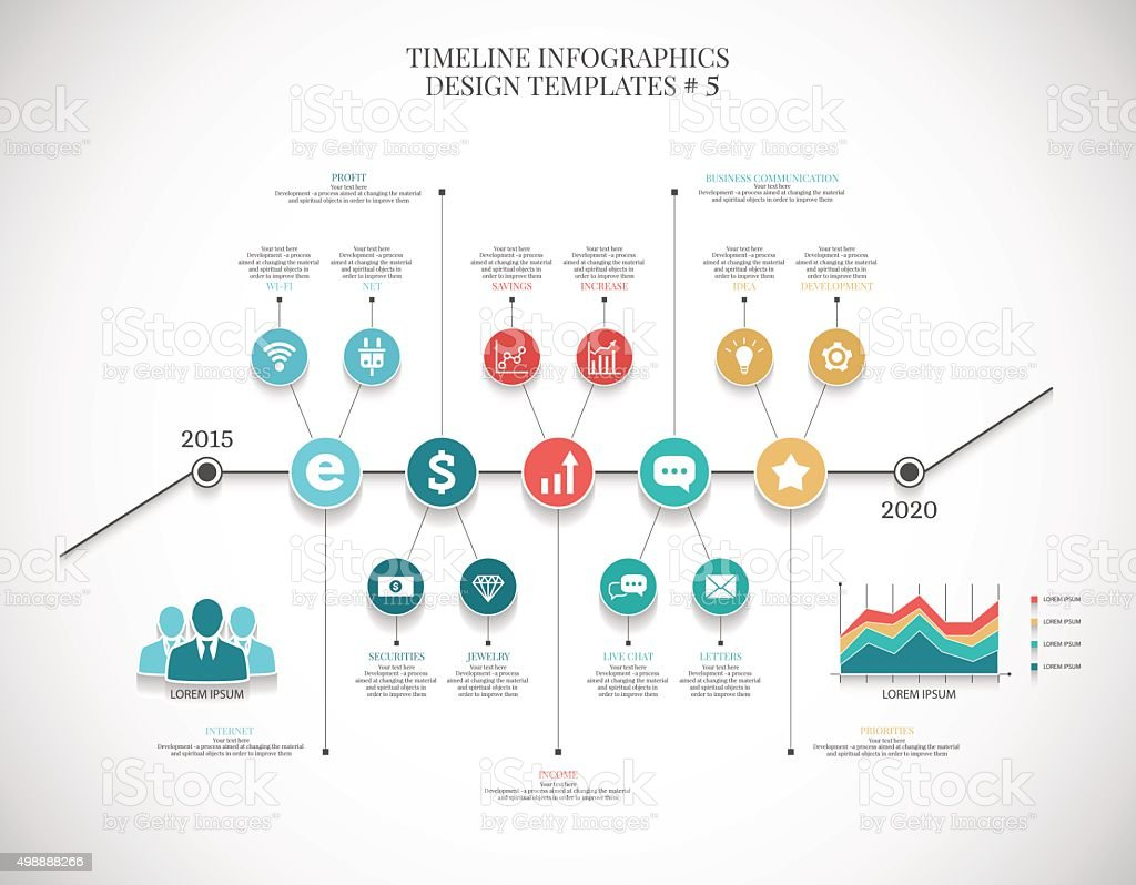Timeline Infographic Illustration 6 Vector Graphics For ...