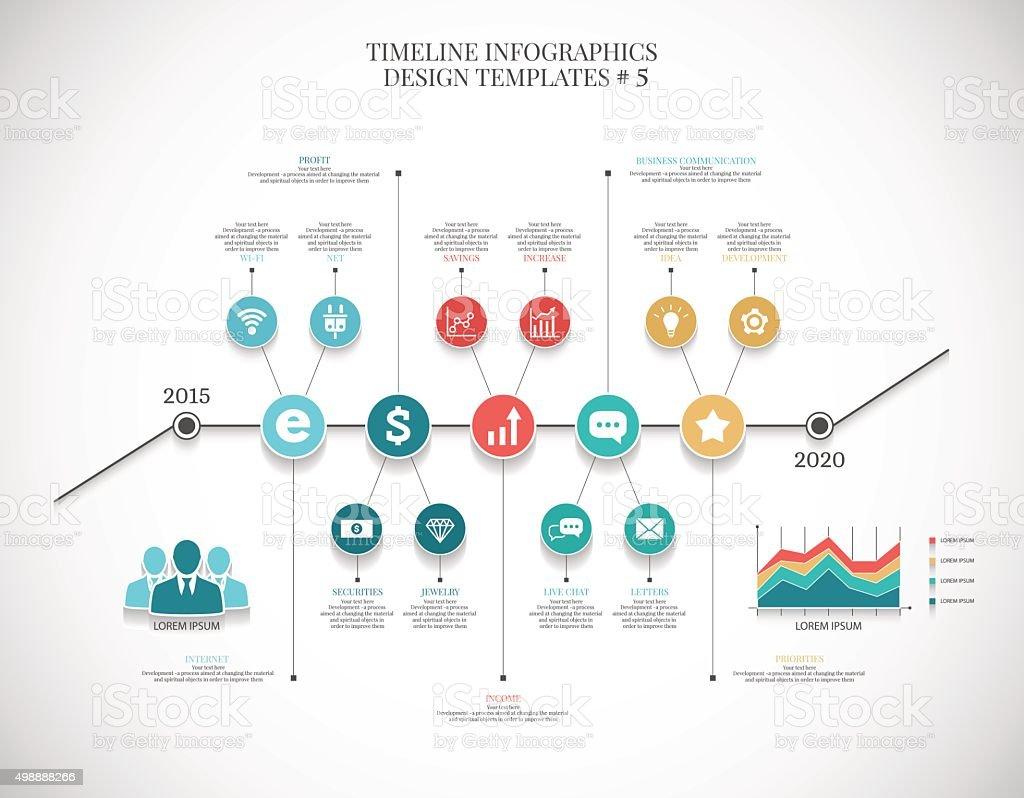 Timeline infographic illustration  ?6 , vector graphics for business vector art illustration