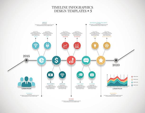 zeitleiste infografik illustration? 6, vektor-grafiken für geschäftsreisende - küchensystem stock-grafiken, -clipart, -cartoons und -symbole