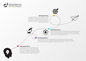 Timeline infographic template. Business concept eith icons. Vector illustration