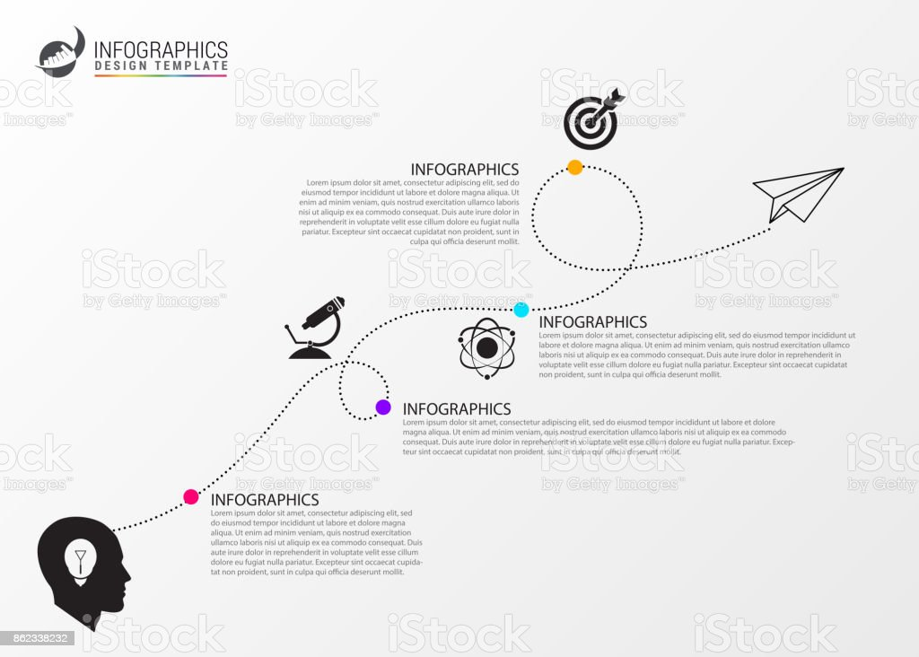Timeline infographic template. Business concept eith icons vector art illustration