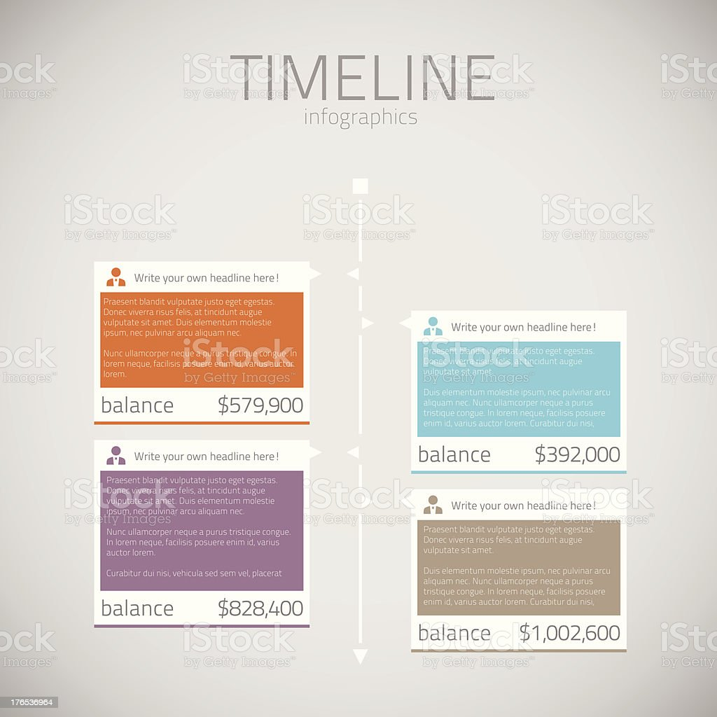 Timeline infographic template vector vector art illustration