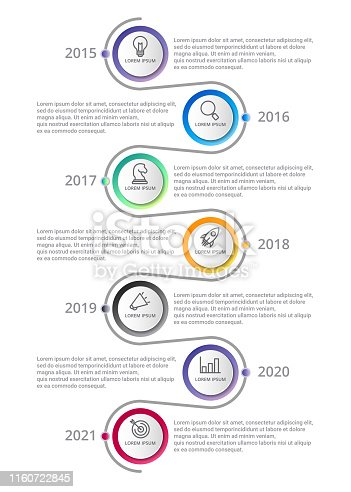 timeline Infographic template with icons options or steps . circle infographic . business infographic for process diagram, presentations, workflow layout, banner, flow chart, info graph.