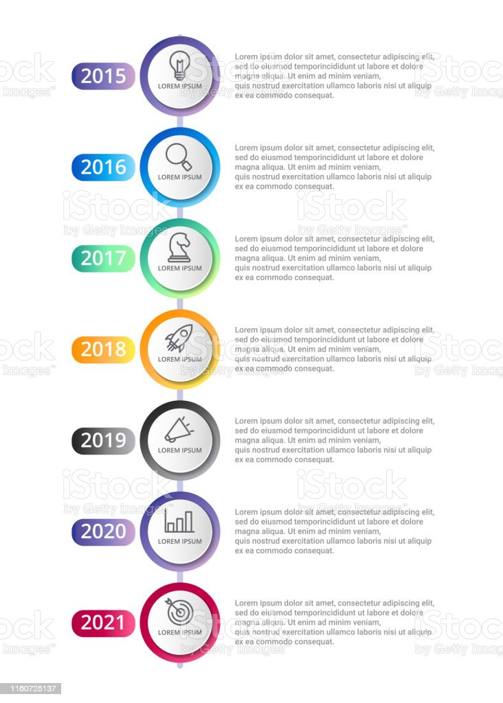 Calendrier Modèle Infographique Avec Des Options Dicônes Ou Des