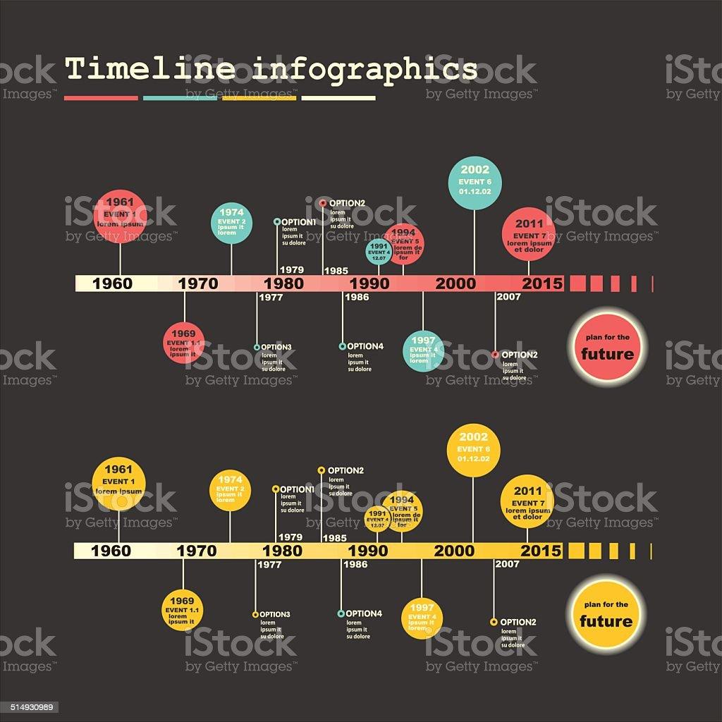 Timeline Infographic. Vector design template. vector art illustration