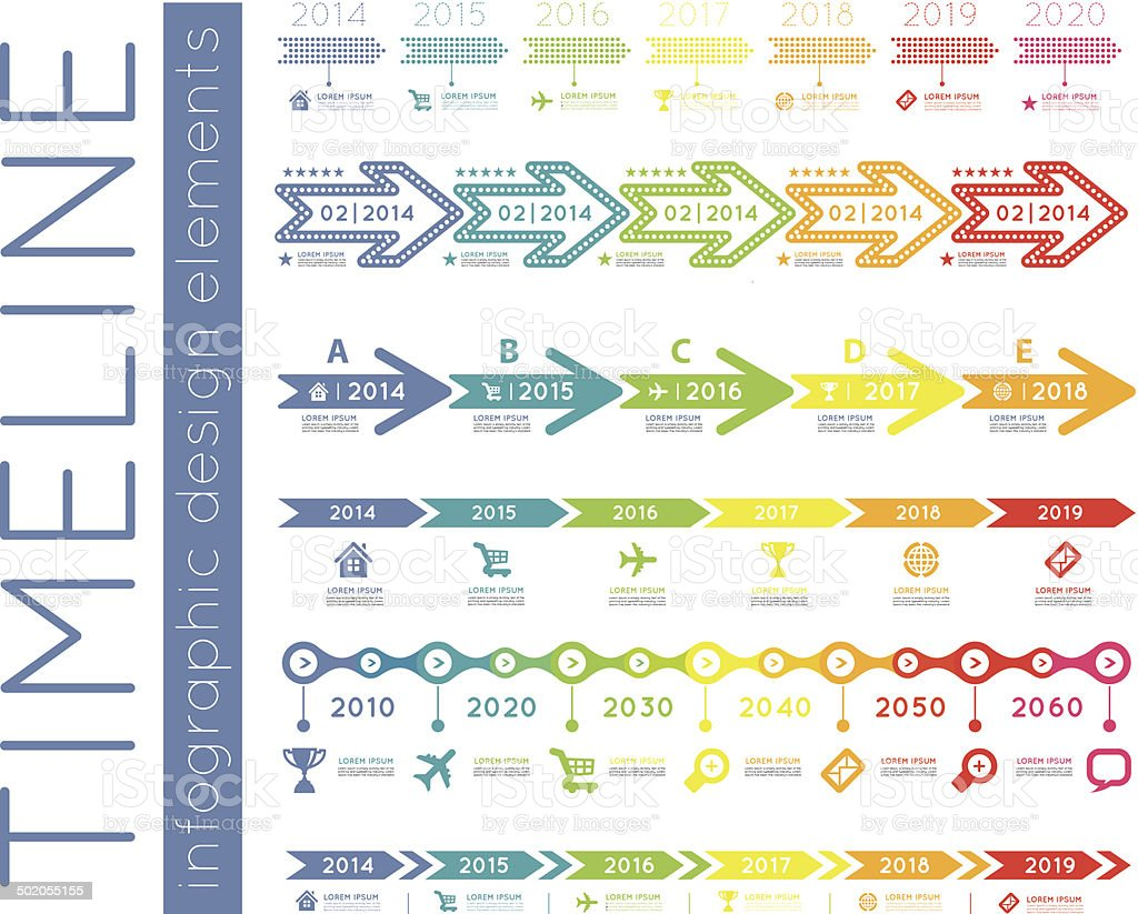 Timeline Infographic Stock Vector Art & More Images of ...