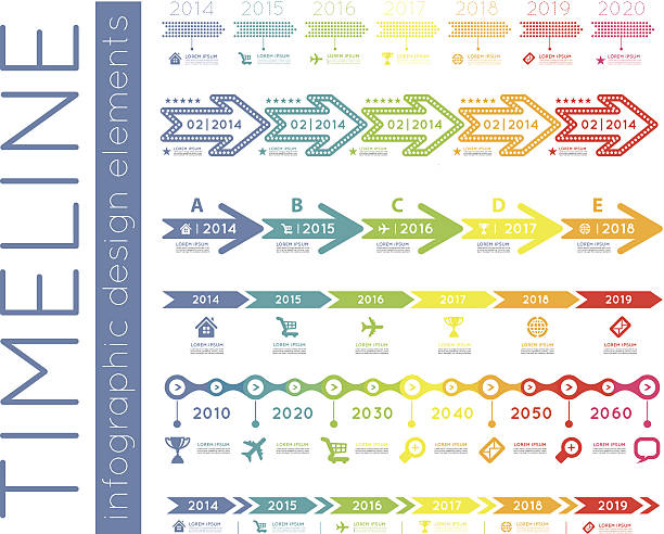 Timeline infographic Timeline element vector infographic on white background temps stock illustrations