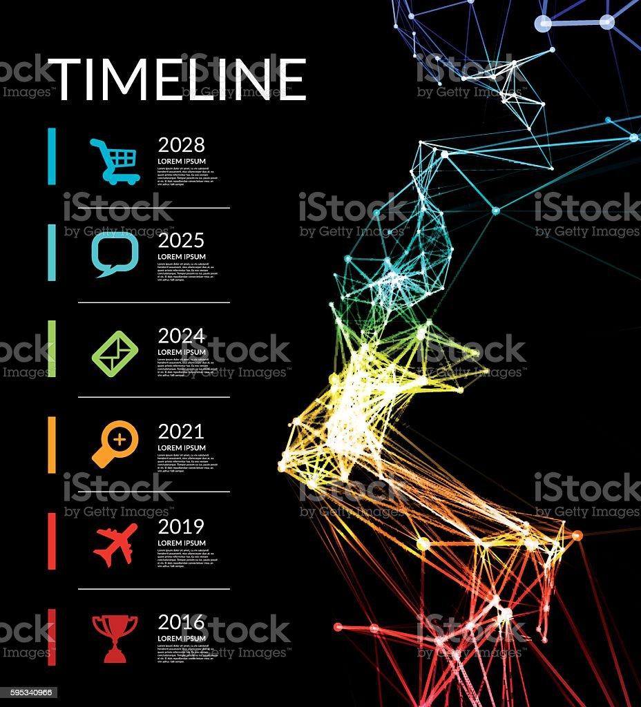 Timeline infographic vector illustration vector art illustration