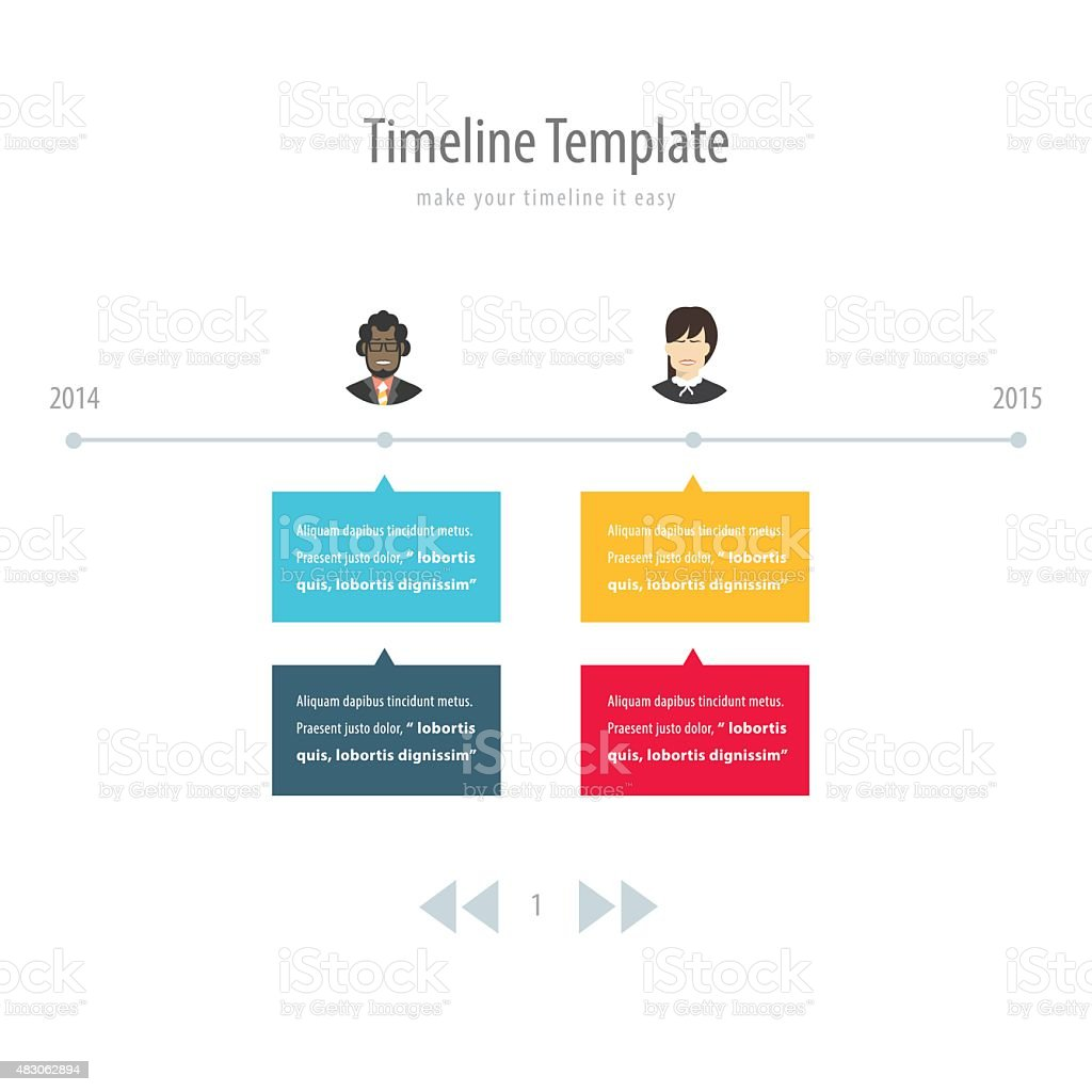 Timeline Infographic With Avatar Stock Vector Art & More ...