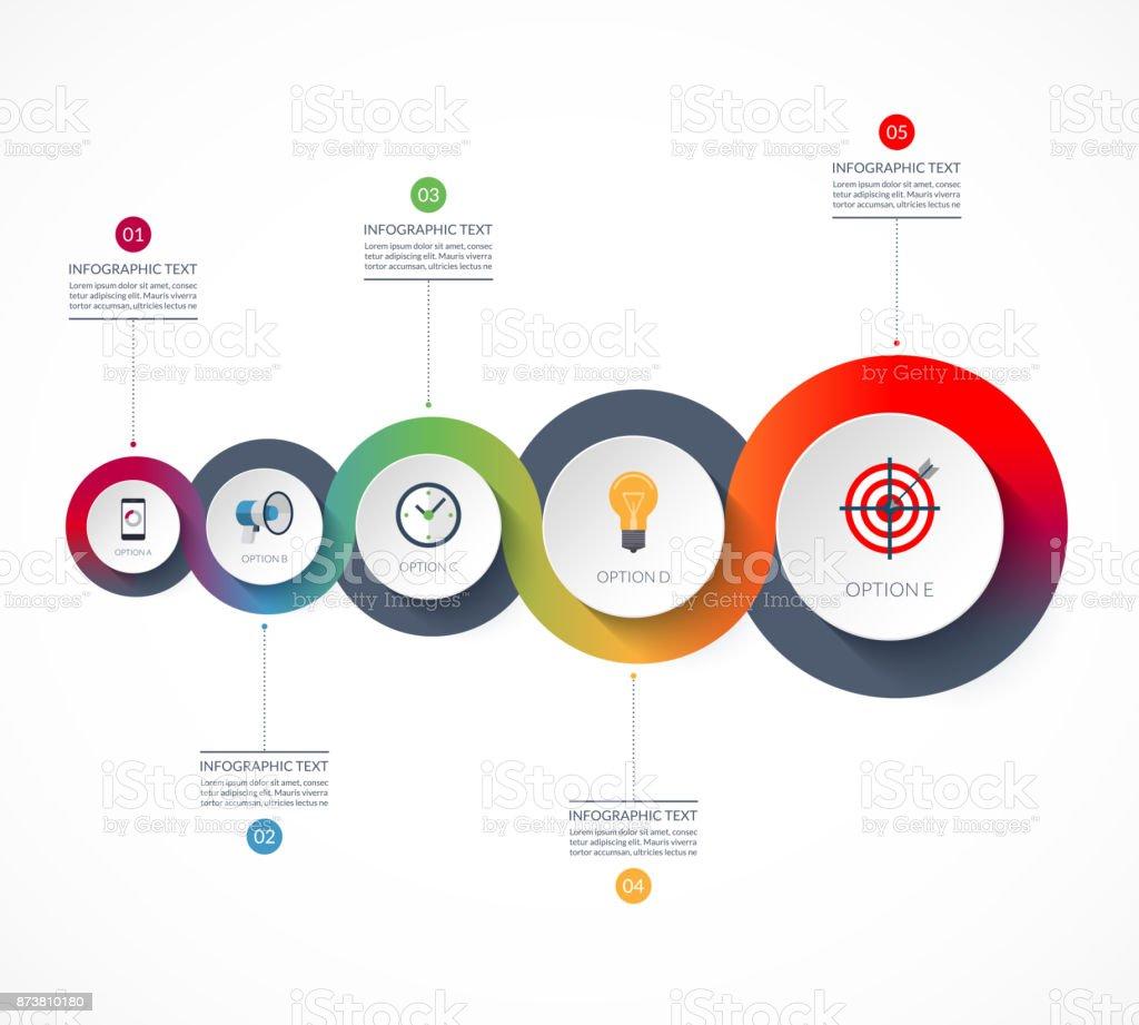 Ilustración de Infografías De La Línea De Tiempo Concepto De ...