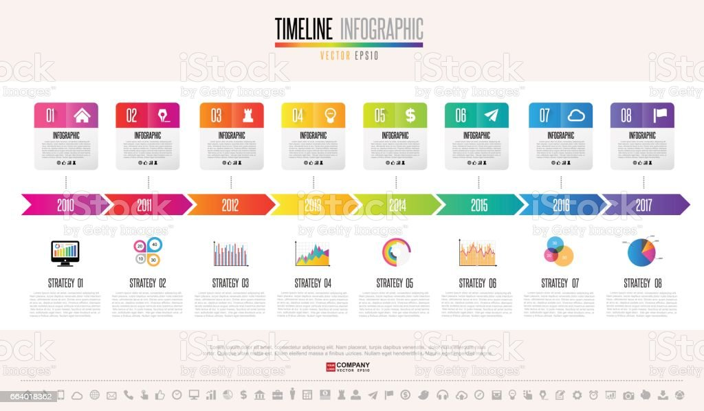 Timeline Infographics Design Template vector art illustration