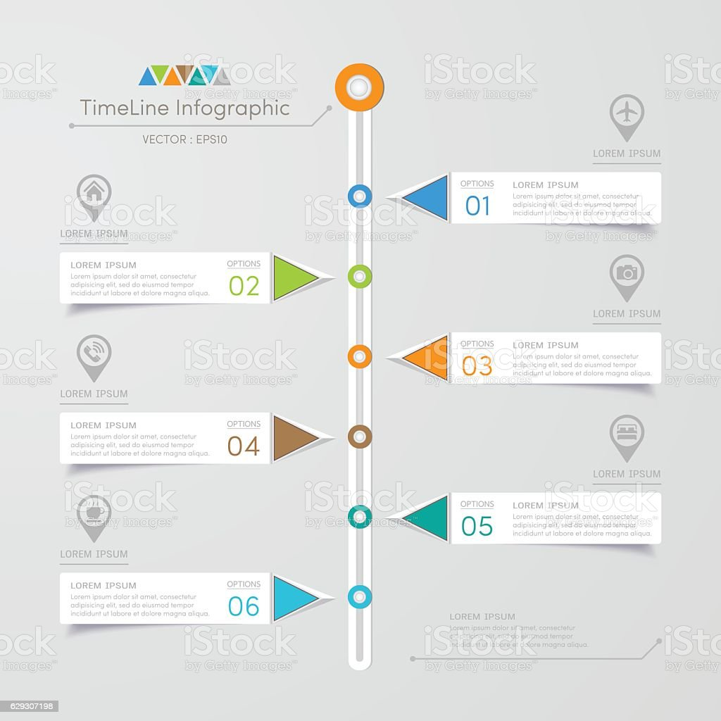 Ilustración de Timeline Infographics Design Template With ... on