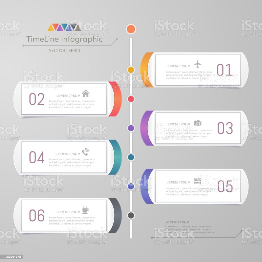 timeline infographics design template with icons process diagram