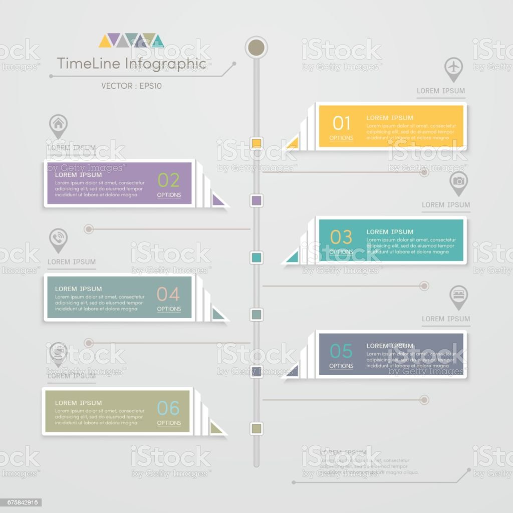 Timeline Infographics Design Template With Icons Process Diagram - Process timeline template