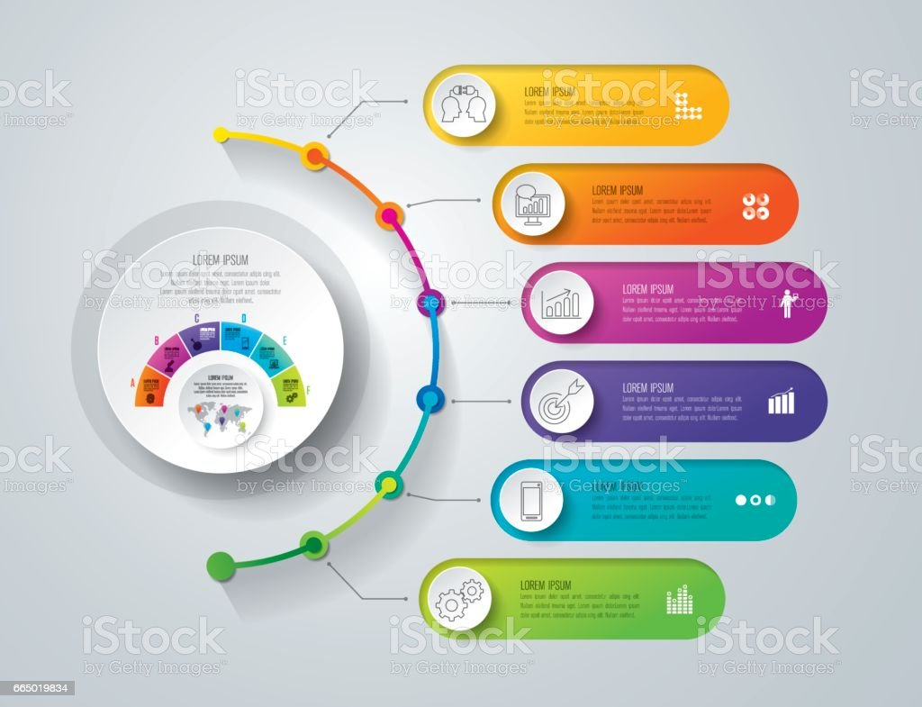 Timeline infographics design vector and business icons. royalty-free timeline infographics design vector and business icons stock illustration - download image now