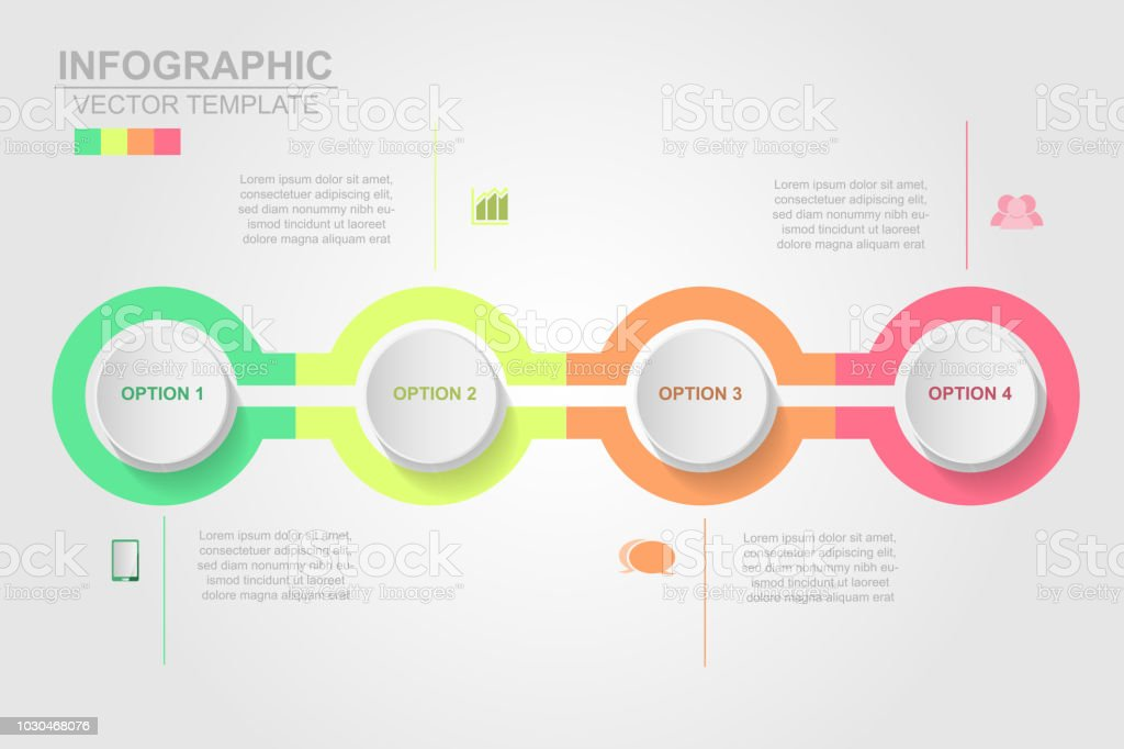 Timeline infographics design vector and marketing icons can be used for workflow layout, diagram, annual report, web design. Business concept with 4 options, steps or processes vector art illustration