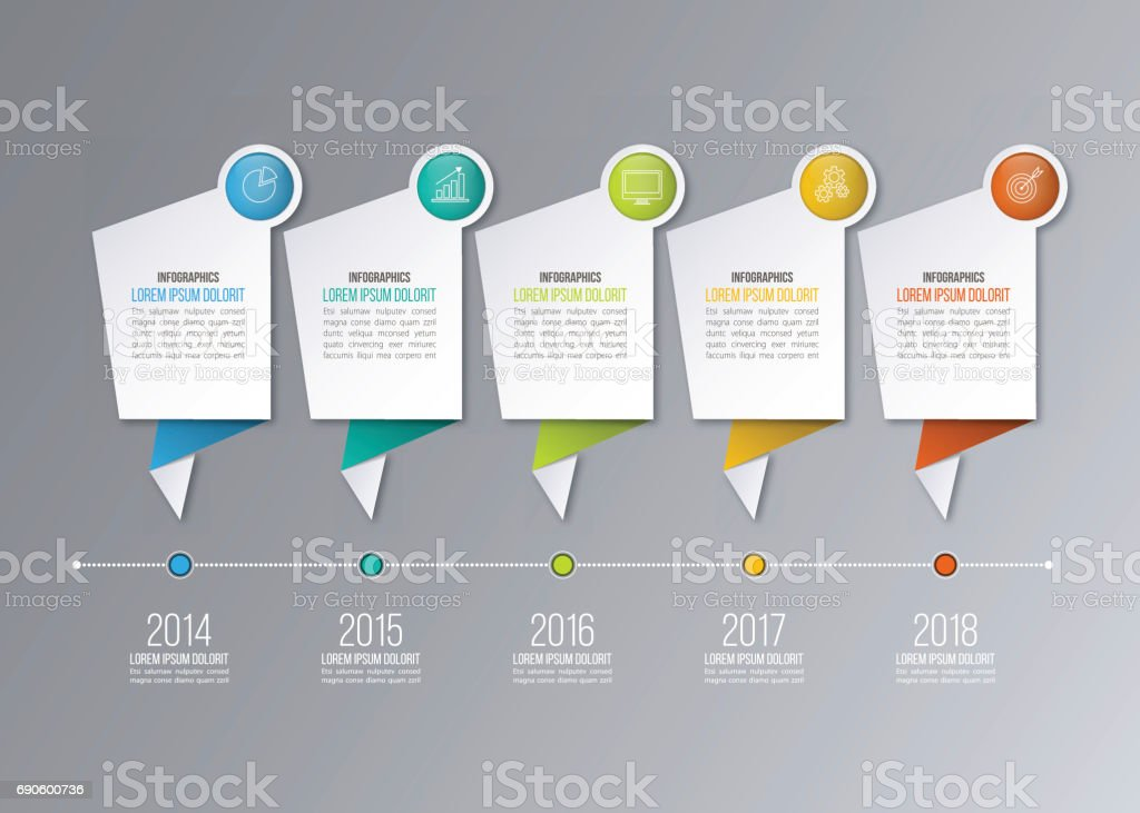 Timeline Infographics Template Stock Vector Art More Images Of - Free timeline infographic template
