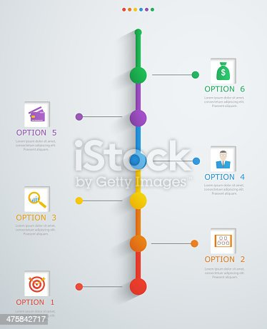 istock Timeline, infographics template with stepwise structure 475842717