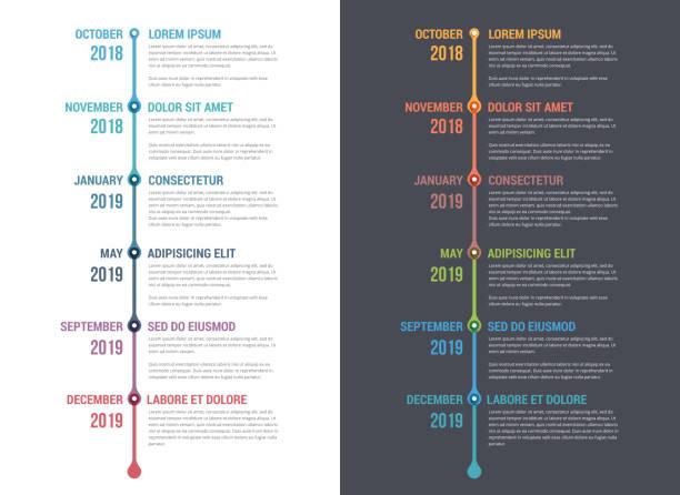 타임라인 인포그래픽스 - timeline stock illustrations