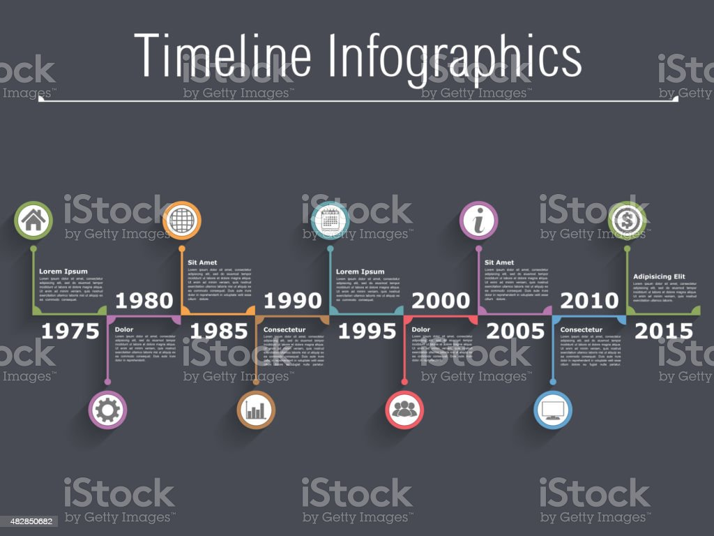 Timeline Infographics Stock Vector Art & More Images of ...