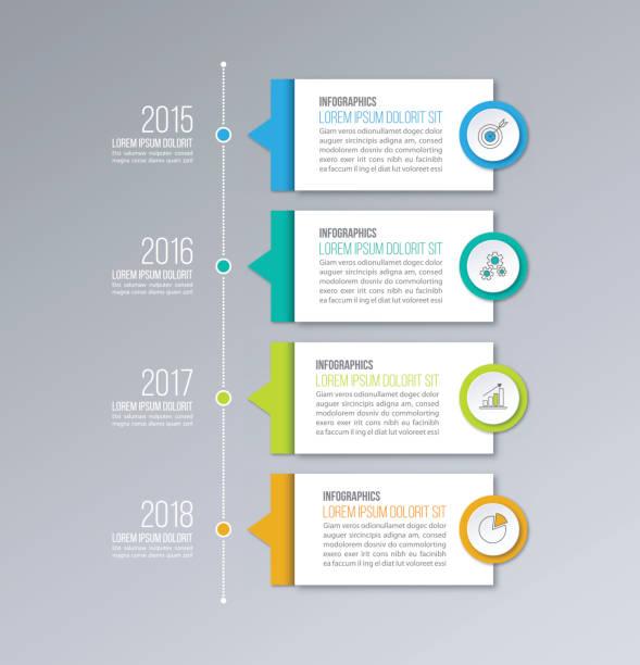 時間表圖表向量範本。圖、圖、網頁設計的業務概念。 - 垂直構圖 幅插畫檔、美工圖案、卡通及圖標