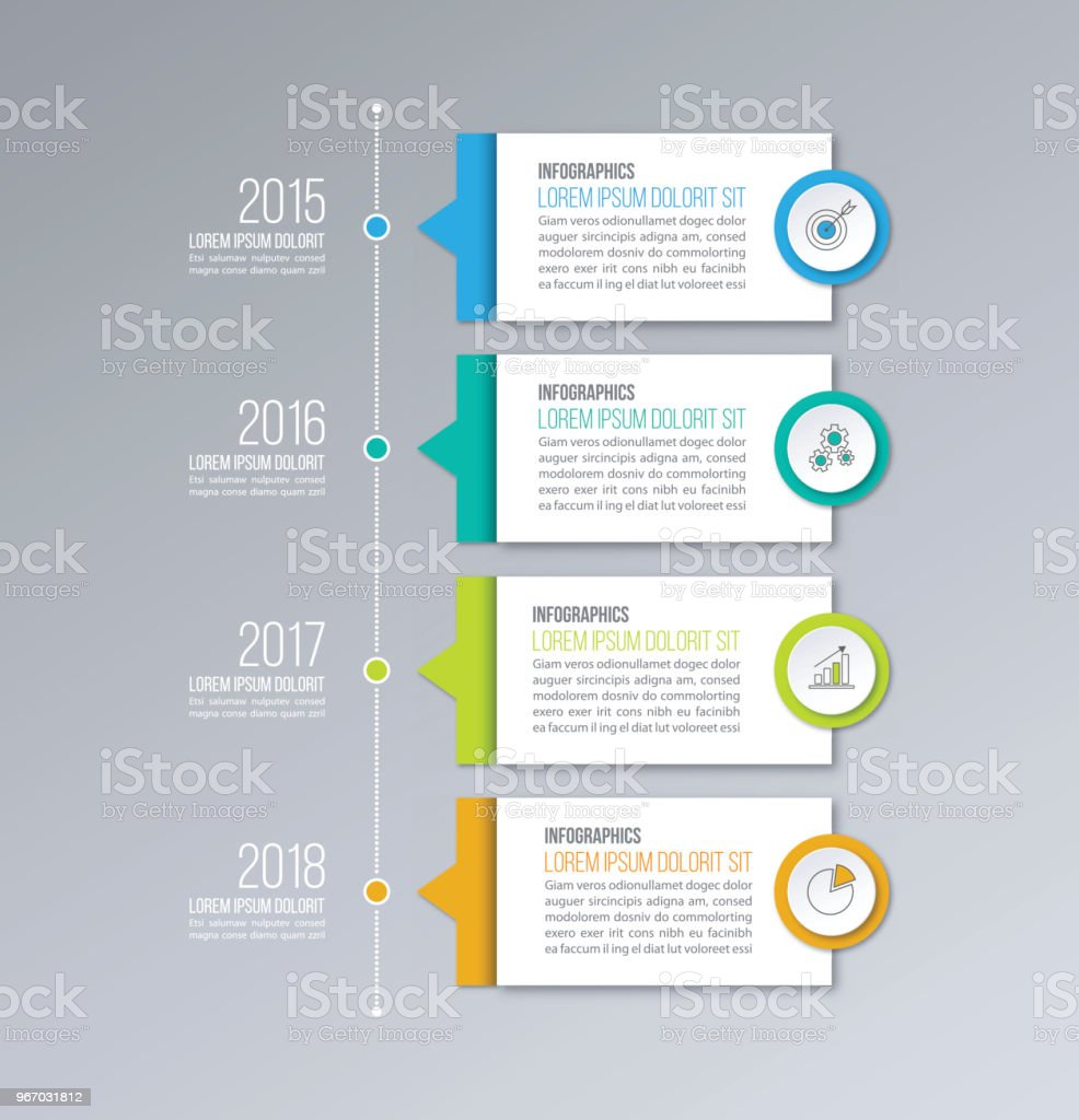 Timeline infographics vector template. Business concept for diagrams, graphs, web design. vector art illustration