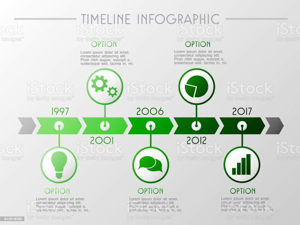 Timeline inforgraphic - company milestone concept. Vector. vector art illustration