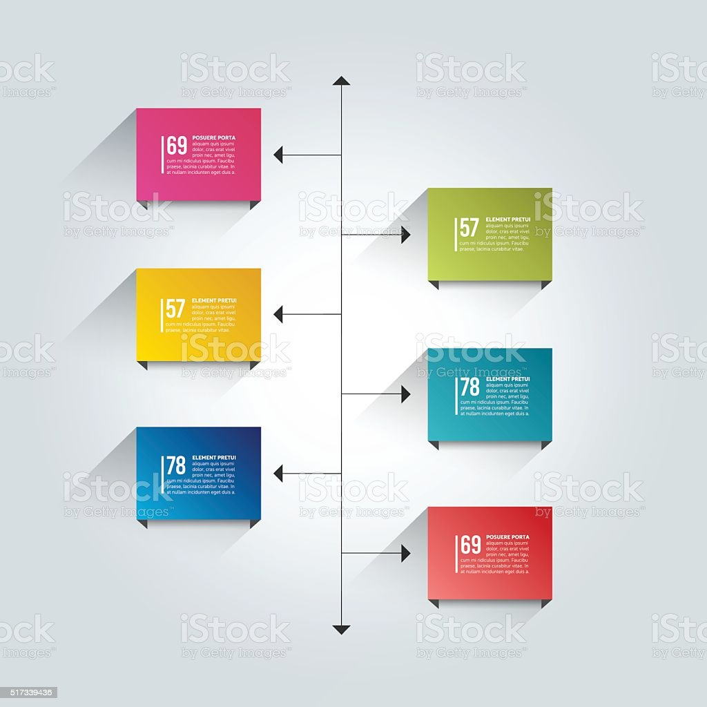 Timeline Report Template Color Shadow Scheme Diagram