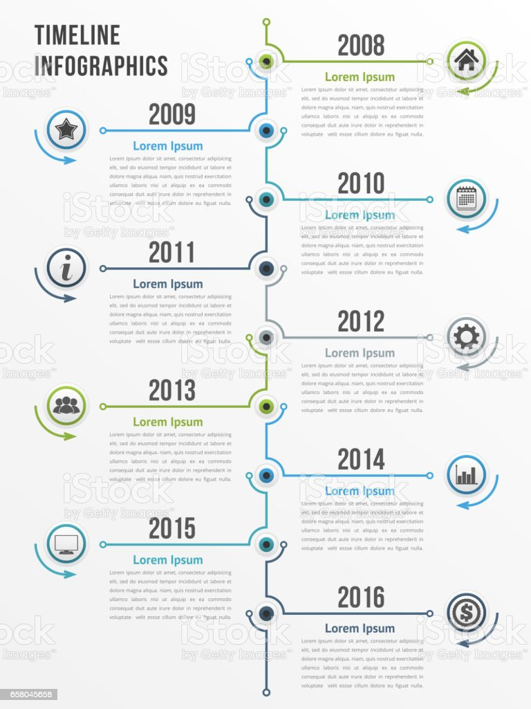 Timeline vector art illustration